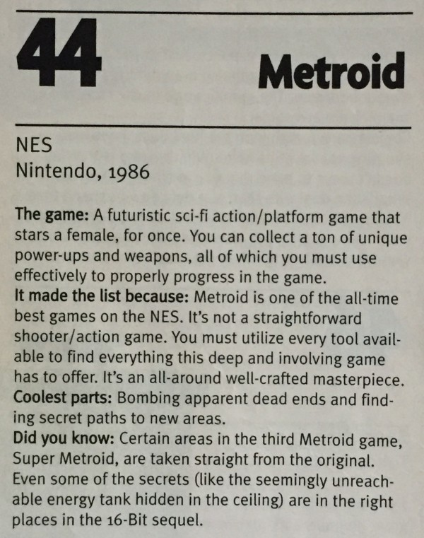 EGM ranked it the 44th best game of all time