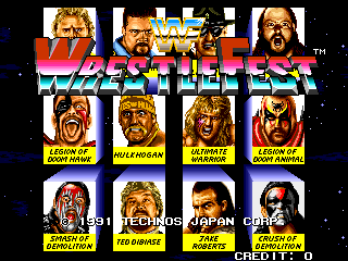 Select from these 12 wrestlers