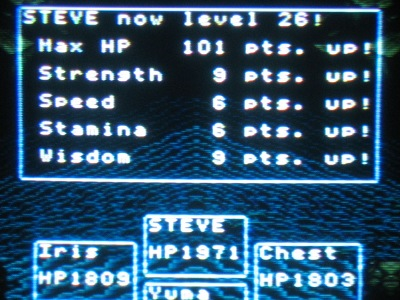 I love it when RPGs feature ridiculously high statistics