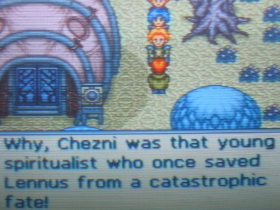 Chezni is a beloved and revered hero in Lennus