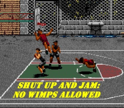 Like NBA Jam, no rules! Let the bodies hit the floor!
