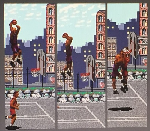 Dunks aren't quite as outlandish as NBA Jam