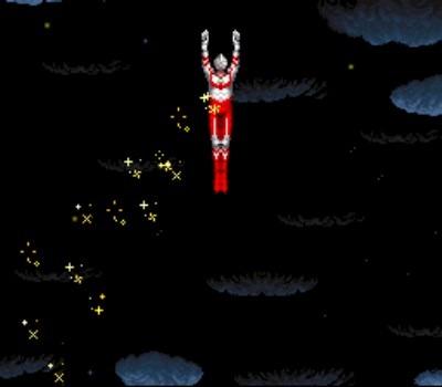 Ultraman gives the universe a golden shower... [Um... yeah... -Ed.]