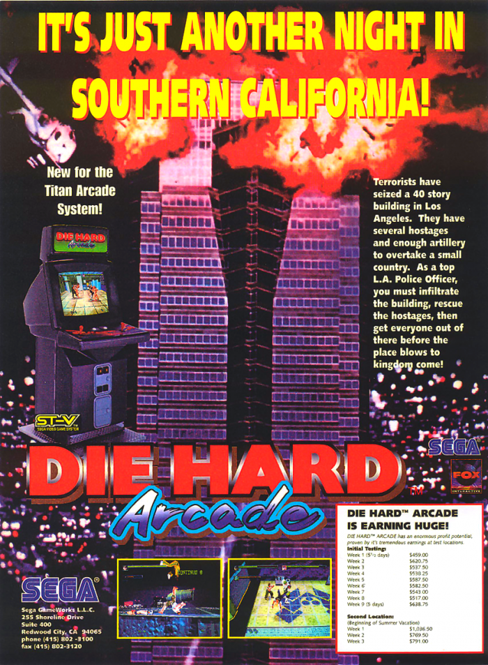 Ad for the arcade