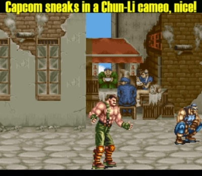 Guile also makes a background cameo later on