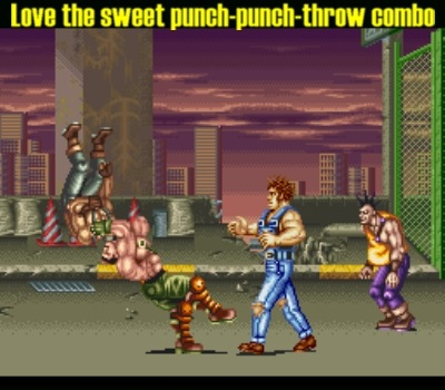 This technique carries over from the first Final Fight