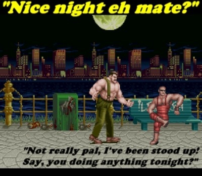 """MIKE HAGGAR DON'T PLAY THAT, PUNK!"""
