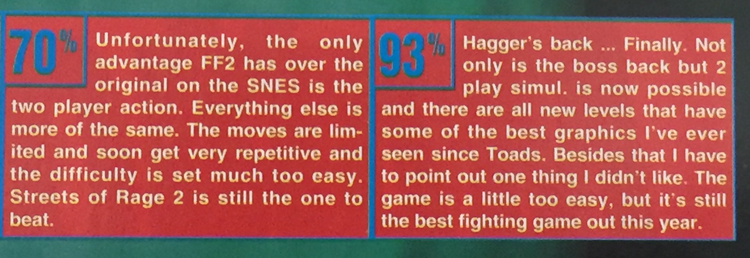 One of the largest scoring gaps in GameFan history