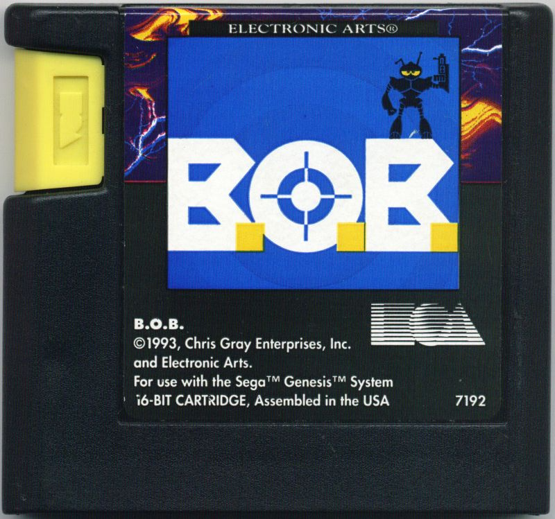 The cartridge had that cool yellow EA tab gimmick, too