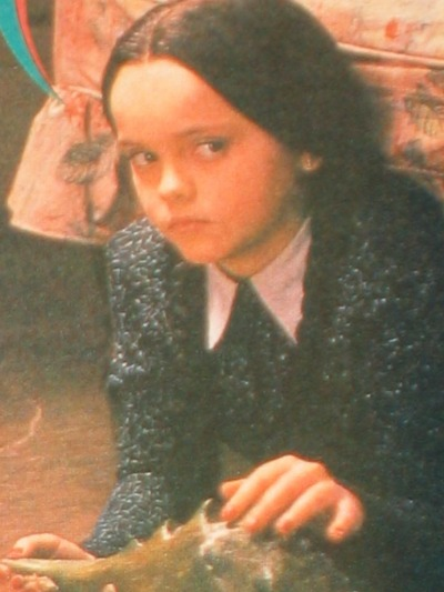 His daughter Wednesday (shout out to Christina Ricci)