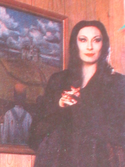 And of course, among others, his wife Morticia