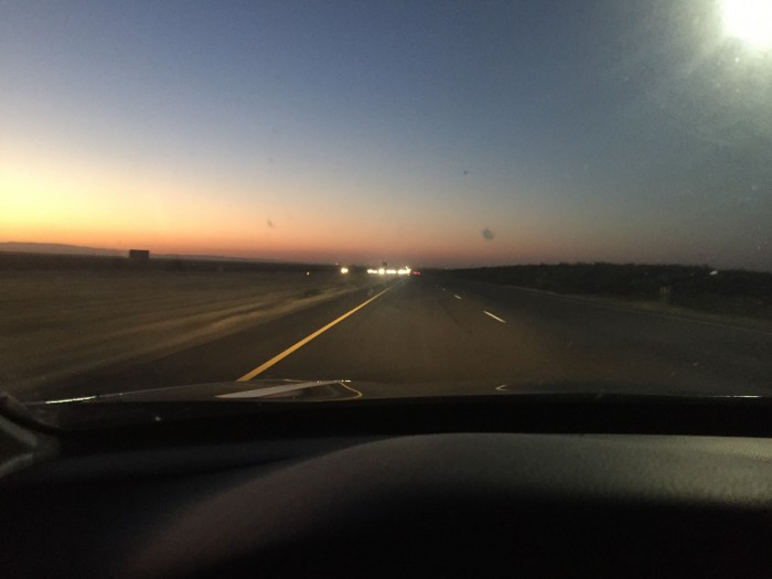 Early Saturday evening I made the long drive back