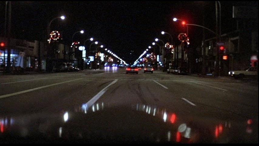 Had fun driving around LA at night blasting 80s songs