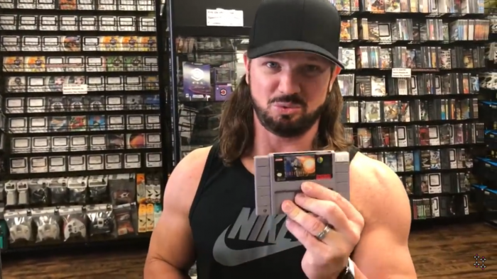 AJ Styles recently snagged a copy on Up Up Down Down