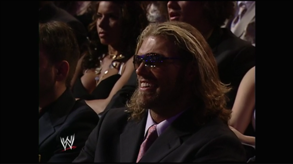 Edge and the crowd chuckles