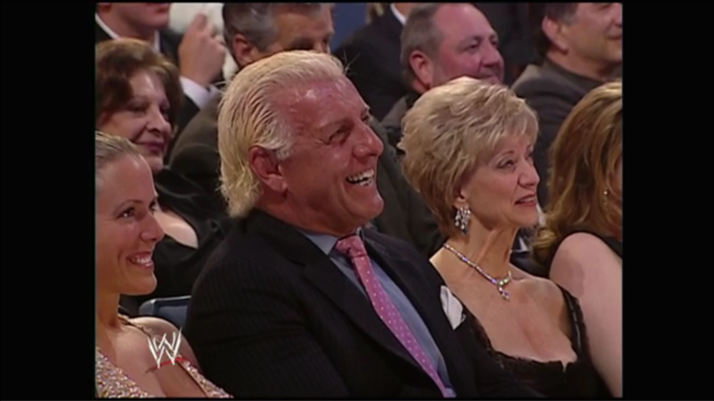 Ric Flair and Linda McMahon are amused