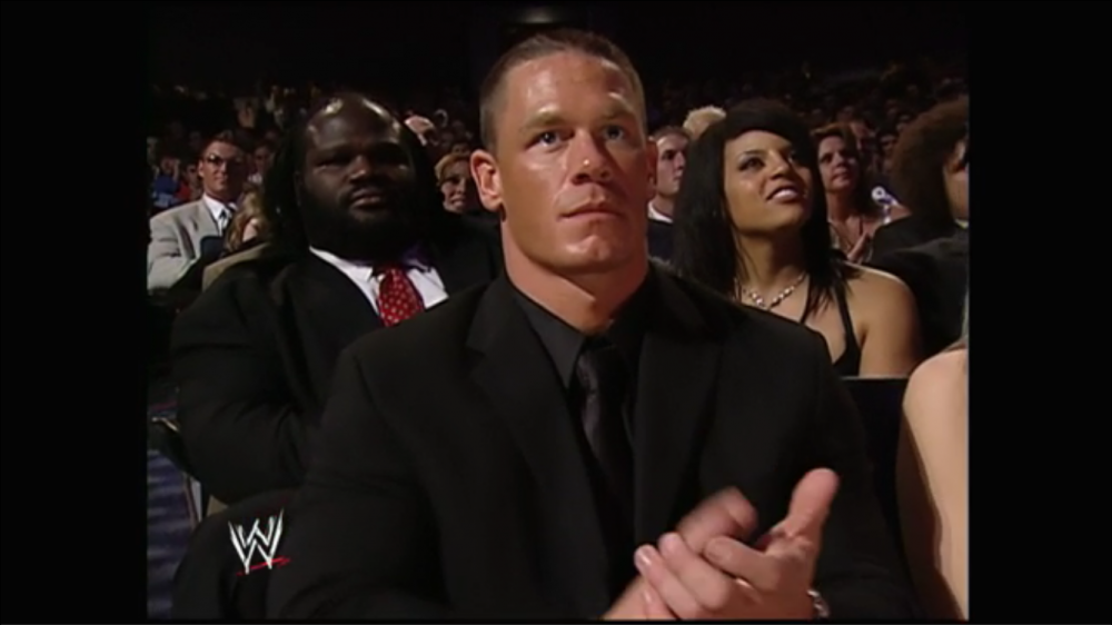 John Cena, Mark Henry and the crowd claps approvingly