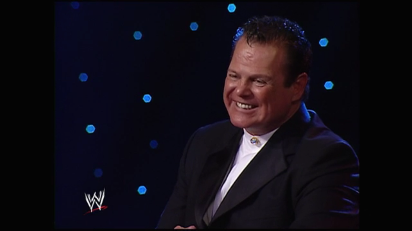 Jerry the King Lawler laughs along with the crowd