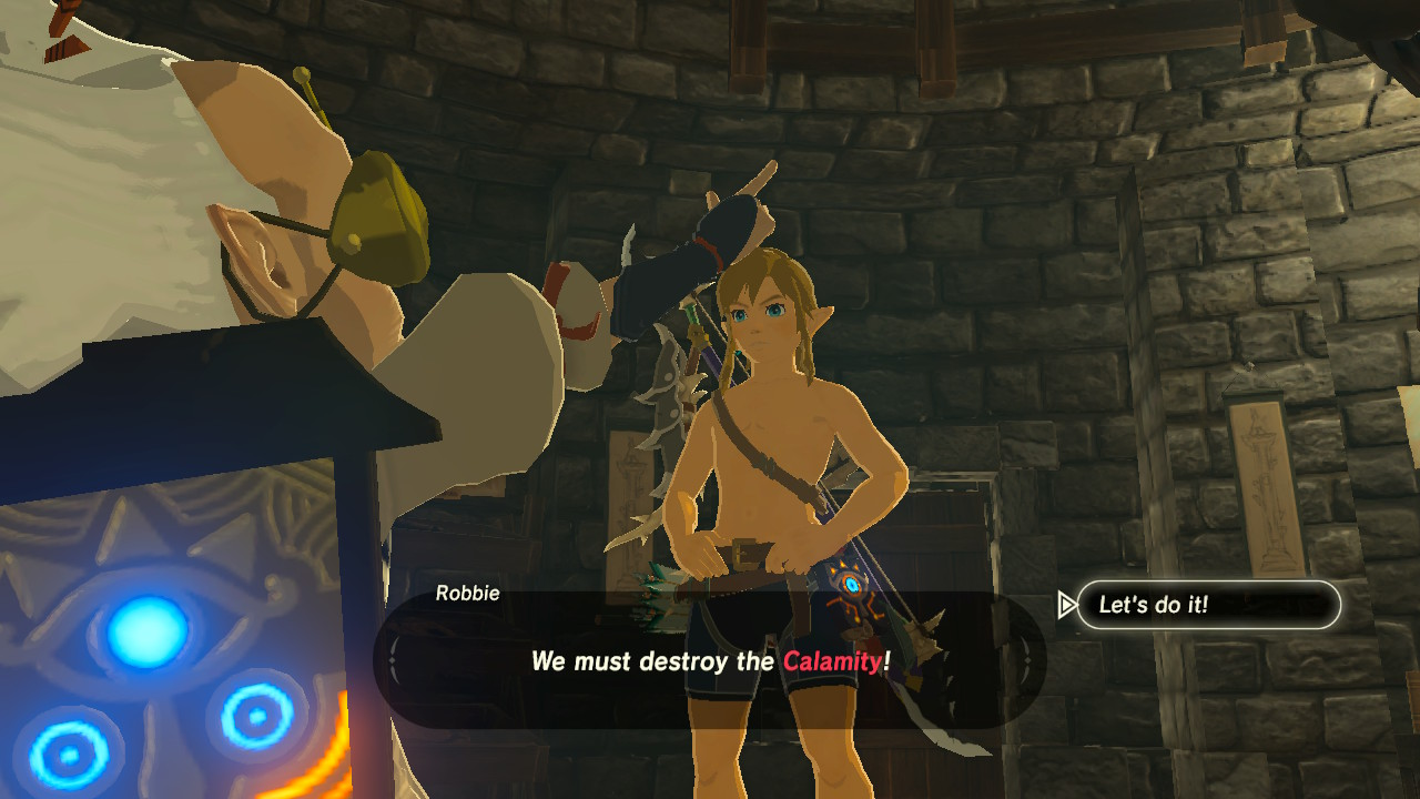 Even Link is dressed like a wrestler