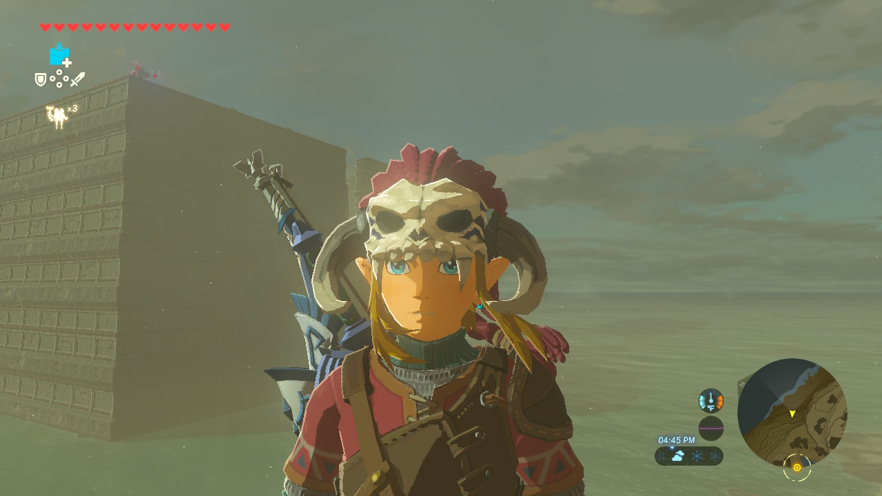 Cool headgear, but what's in that huge weird building?