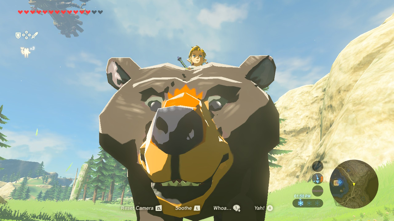 Yes, you can ride bears. Nuff said