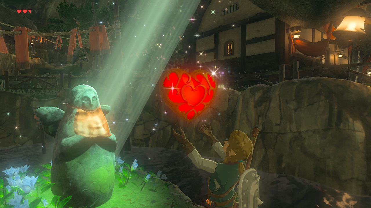 Collect 4 orbs to add a heart or stamina upgrade