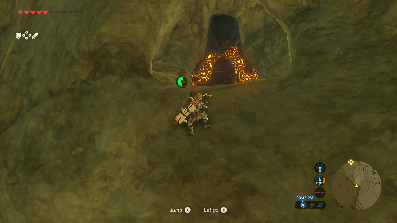Your Sheikah Slate beeps louder the closer you get