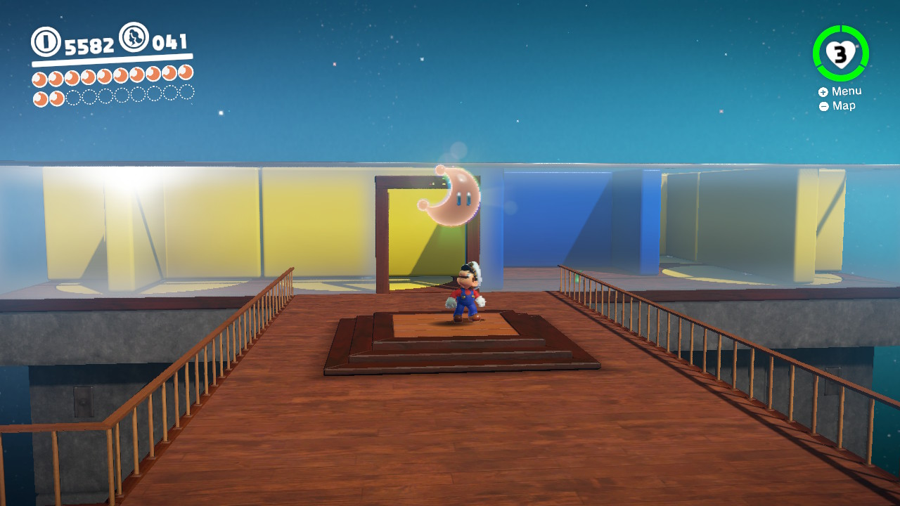 This was such a fun space to navigate Mario through