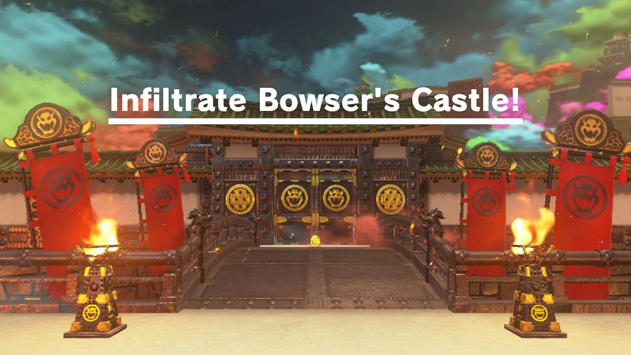 Bowser's Kingdom is a beautiful but deadly fortress