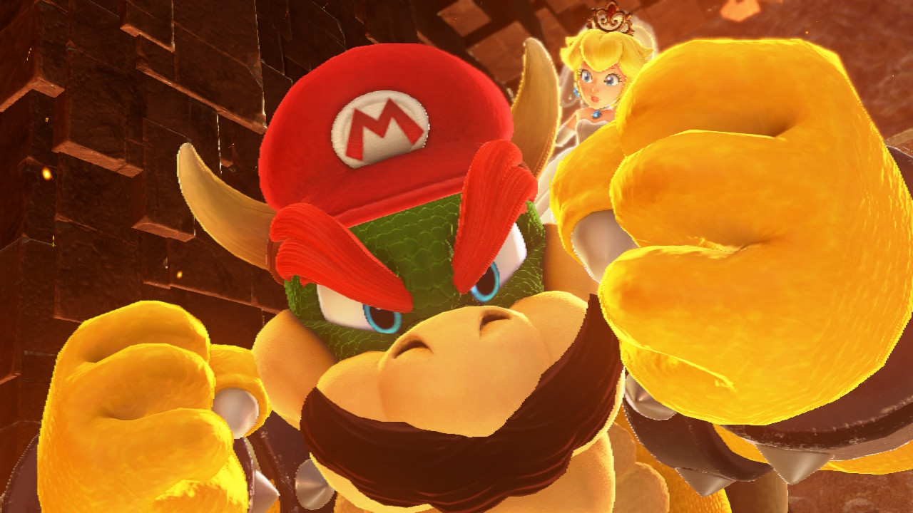 After beating him, use Cappy to take control of Bowser