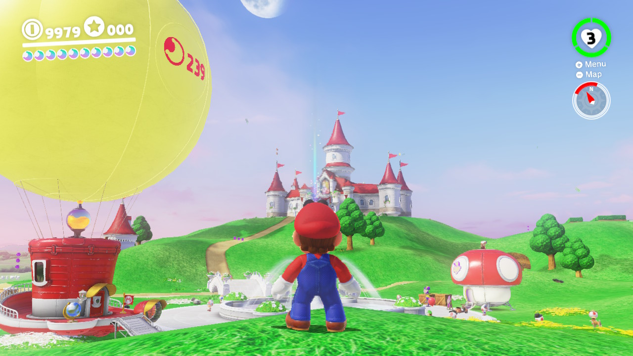 What a lovely nod to Super Mario 64!
