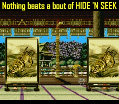 Paper screens in Jubei's stage offers plenty of hi-jinx