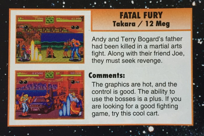 I was so hyped seeing this in EGM circa January 1993
