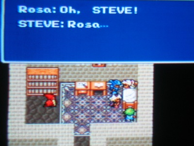 Rosa: Thank you for being here with me... Steve: Alright... well... yeah, get some sleep. Old Guy: Ugh... no game at all!