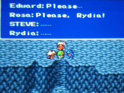 Edward: DO IT FOR ANNA! Rydia: Playing the dead girlfriend card?! Oh my...
