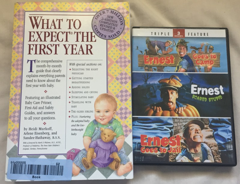 Got the book for $2 and the Ernest DVD for $1.49