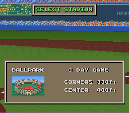 Only 3 ballparks, sadly