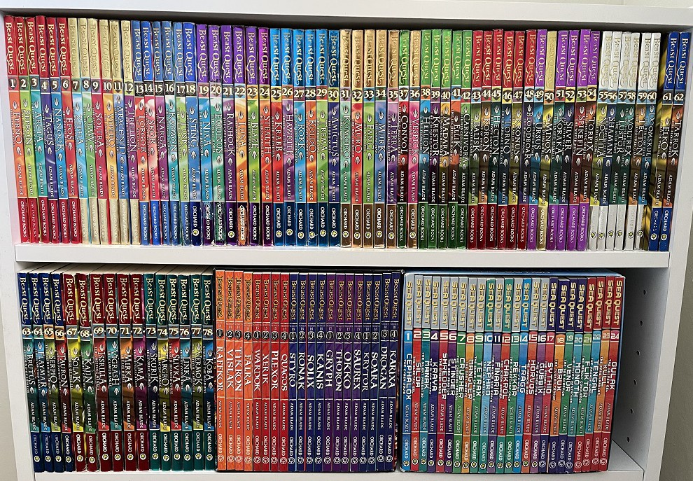 They look so awesome on a book shelf!