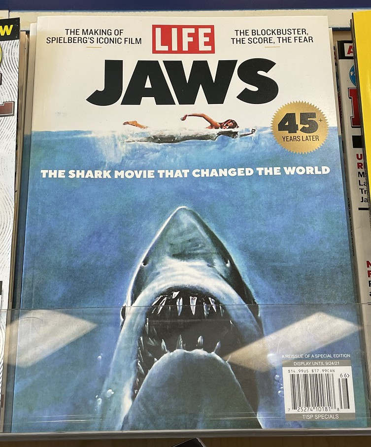 Spotted at a Rite Aid on July 14, 2021. The impact and legacy of JAWS lives on to this day!