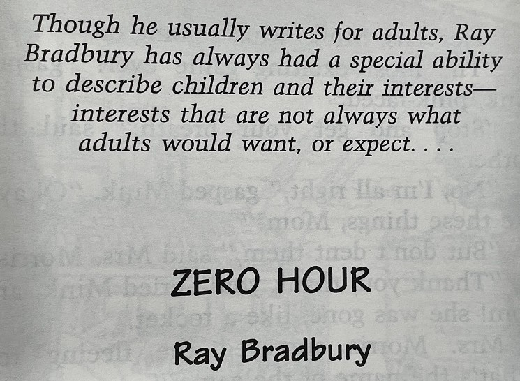 Any anthology with Ray Bradbury is a winner! :)